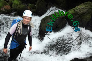 Virginie Faure canyoning
